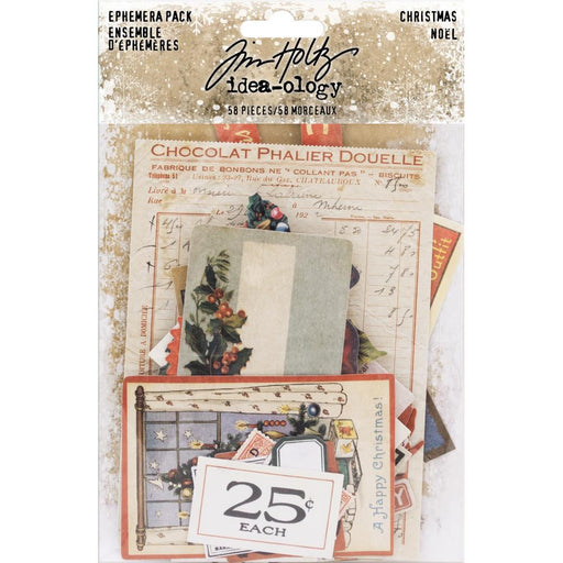 TIM HOLTZ IDEAOLOGY  EPHEMERA PACK  CHRISTMAS NOEL