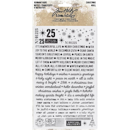 TIM HOLTZ IDEAOLOGY RUBS CHRISTMAS NOEL