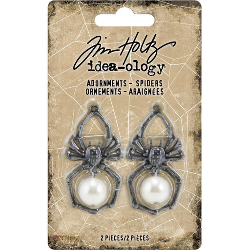 TIM HOLTZ IDEAOLOGY   HALLOWEEN ADORNMENTS SPIDERS