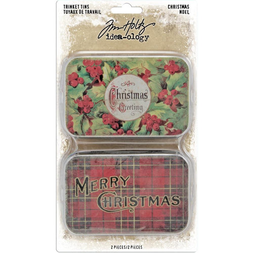 TIM HOLTZ IDEAOLOGY  TRINKET TINS  CHRISTMAS