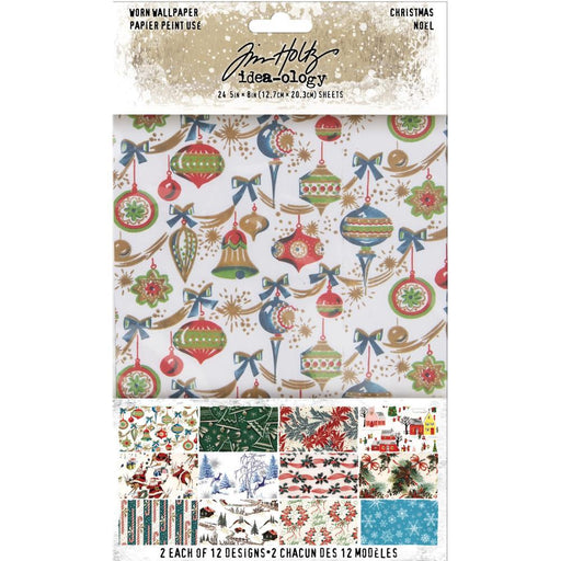 TIM HOLTZ IDEAOLOGY WORN WALLPAPER CHRISTMAS