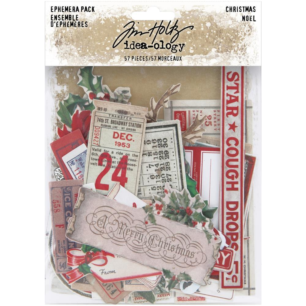 TIM HOLTZ IDEAOLOGY  EPHEMERA PACK CHRISTMAS