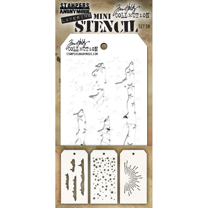TIM HOLTZ COLLECTION LAYERING STENCILPKT 3   MINI 38