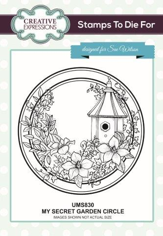 SUE WILSON  STAMPS TO DIE FOR MY SECRET GARDEN CIRCLE