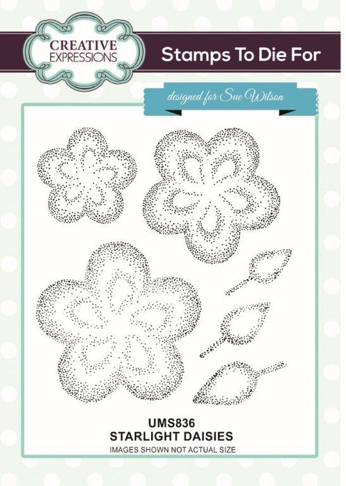 SUE WILSON  STAMPS STARLIGHT DAISIES