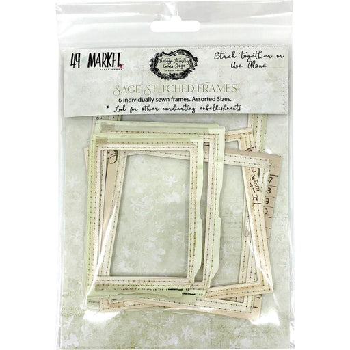 49 AND MARKET  VINTAGE ARTISTRY SAGE STICHED FRAMES