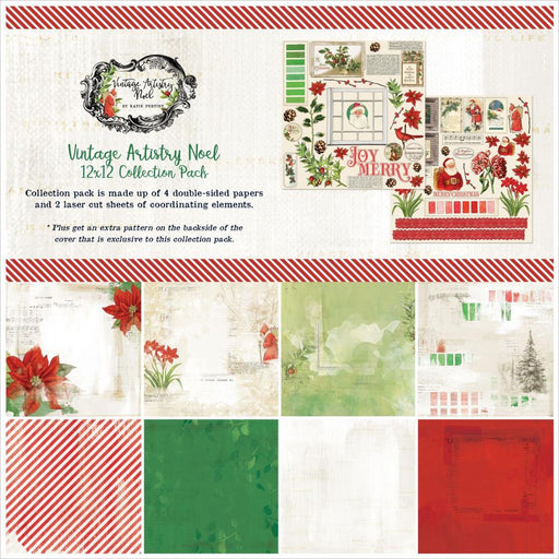 49 AND MARKET VINTAGE ARTISTRY NOEL 12 X 12 COLLECTION PACK