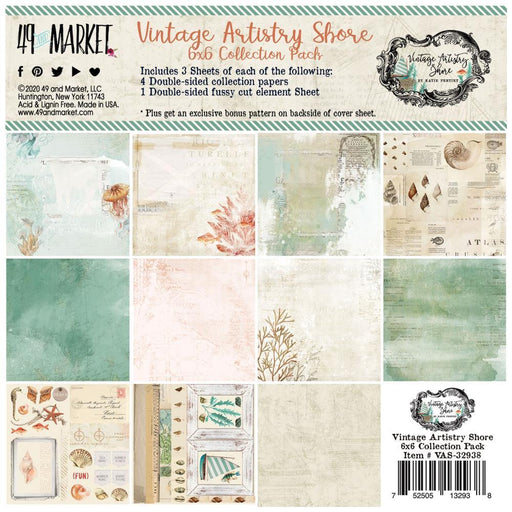 49 AND MARKET 6 X 6 PAPER PAD VINTAGE ARTISTRY SHORE