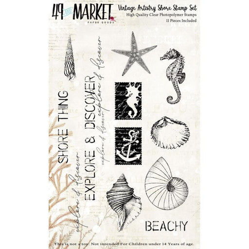 49 AND MARKET  STAMP SET  VINTAGE ARTISTRY SHORE