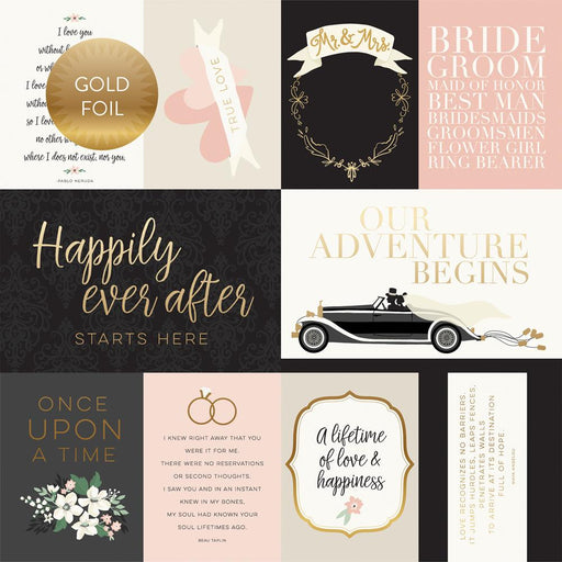 ECHO PARK 12X12 PAPER WEDDING DAY JOURNALING CARD GOLD FOIL