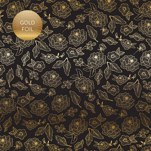 ECHO PARK 12X12 PAPER WEDDING GOLD FLORAL GOLD FOILED