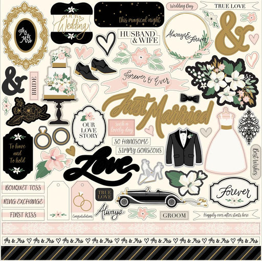ECHO PARK 12X12 ELEMENTS STICKERS WEDDING DAY