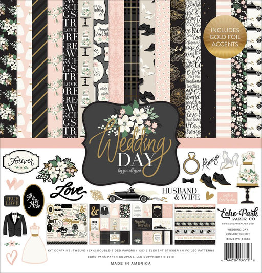 ECHO PARK 12 X 12  PAPER PACK  WEDDING DAY