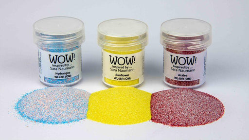 WOW EMBOSSING POWDER TRIO  PARC FLORAL SARA NAUMAN