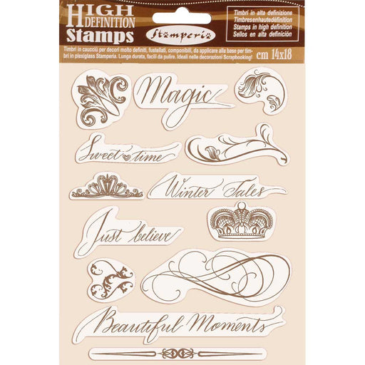 STAMPERIA  RUBBER STAMP 14CM X 18CM  BEAITIFUL MOMENTS