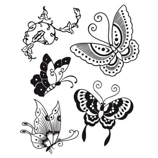 STAMPERIA  RUBBER STAMP 14CM X 18CM   BUTTERFLY