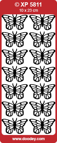 CRAFT STICKER BUTTERFLIES TRANS  GOLD