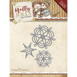 YVONNE CREATIONS DIE  HOLLY JOLLY SNOWFLAKE  STAR