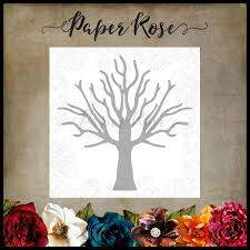 PAPER ROSE DIE  TREE  LARGE