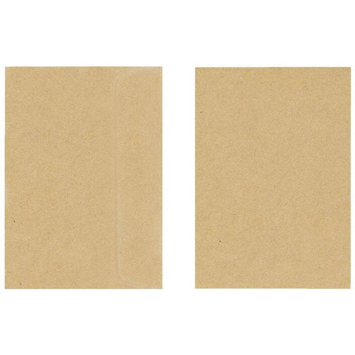 KRAFT ENVELOPES 130MMX180MM PKT 25