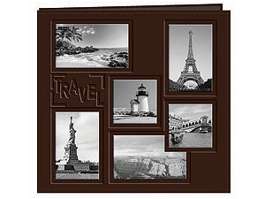 PIONEER 12X12 BROWN TRAVEL ALBUM COLLAGE FRAME