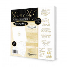 HUNKYDORY TRIM ME FOIL INSERT PAD EVERYDAY  GOLD
