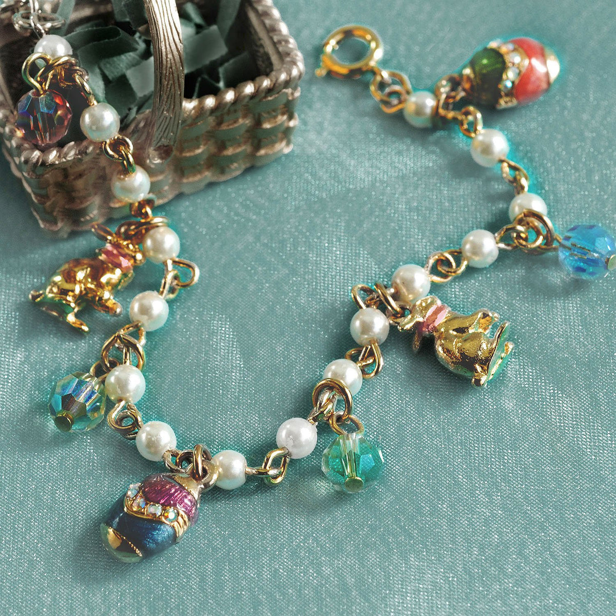 Easter Egg Charm Bracelet BR201 - Sweet Romance Wholesale