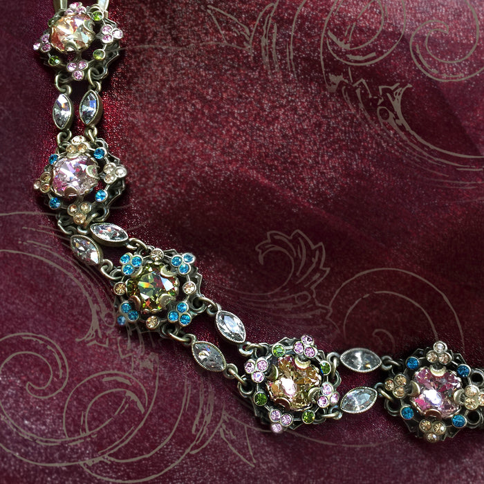Crystal Cushion Bracelet BR367 - Sweet Romance Wholesale