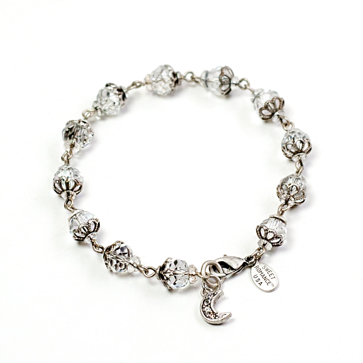 Crystal Bead Linked Bracelet BR546 - Sweet Romance Wholesale