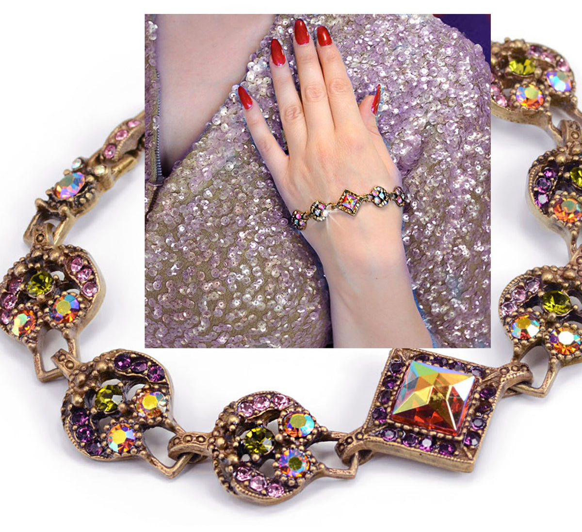 Give Me Glamour Bracelet BR555 - Sweet Romance Wholesale