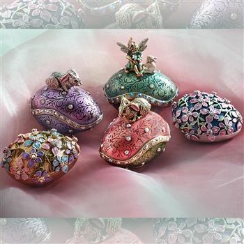 Easter Egg Miniature Box Collection - Set of 5 Eggs - Sweet Romance Wholesale