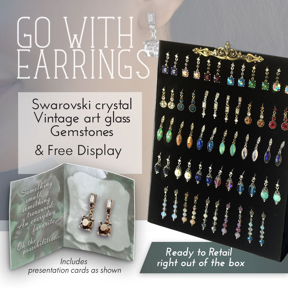 Go With Earring Deal: Assortment + Free Display - Sweet Romance Wholesale