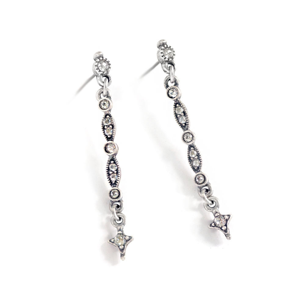 Bronze Angel Display & Crystal on Silver Earrings DEAL108 - Sweet Romance Wholesale