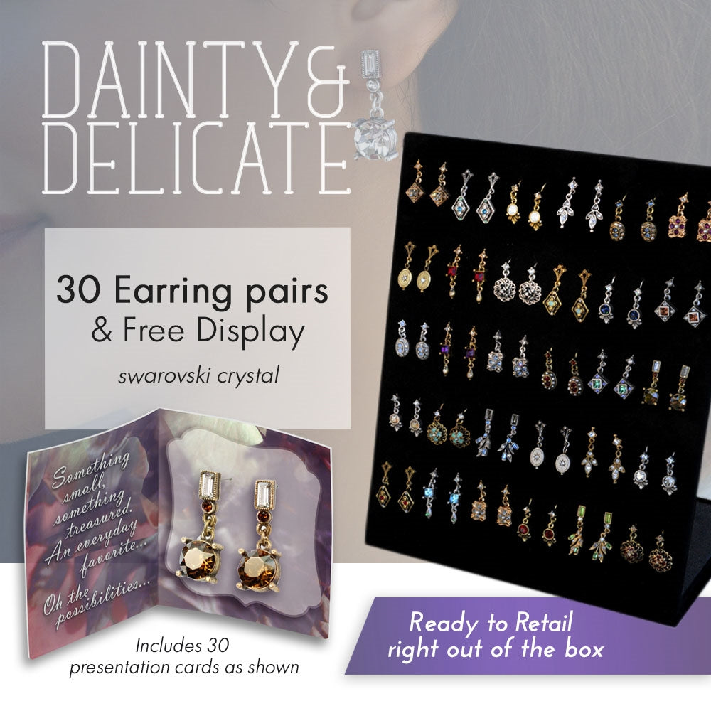 Dangle Earring Deal: 30pr Earrings + Free Display DEAL1402 - Sweet Romance Wholesale