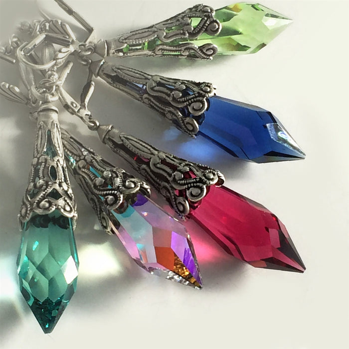 Sparkling Crystal Prism Earrings Deal - Sweet Romance Wholesale