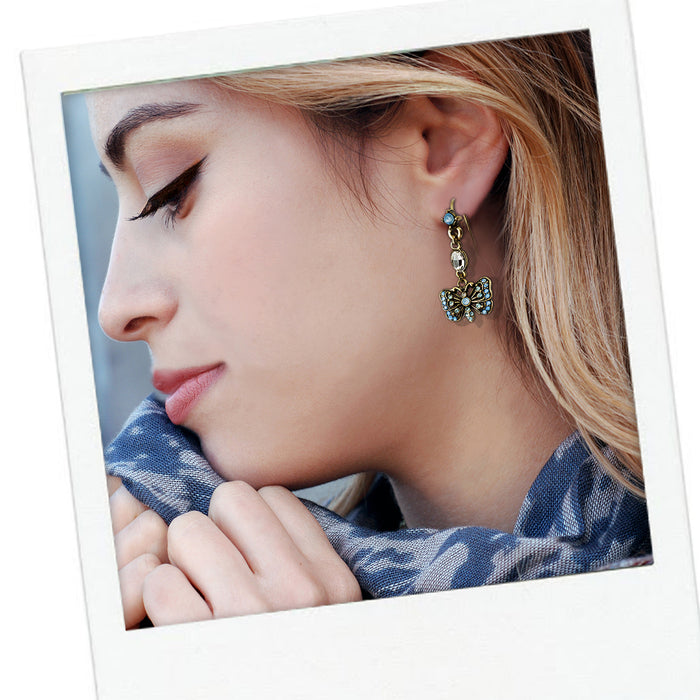 Butterfly Earrings E1454 - Sweet Romance Wholesale