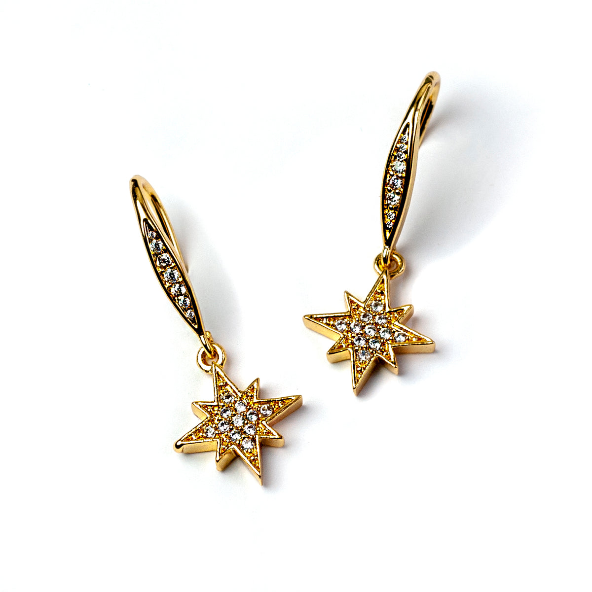 Tiny North Star Earrings E1505 - Sweet Romance Wholesale