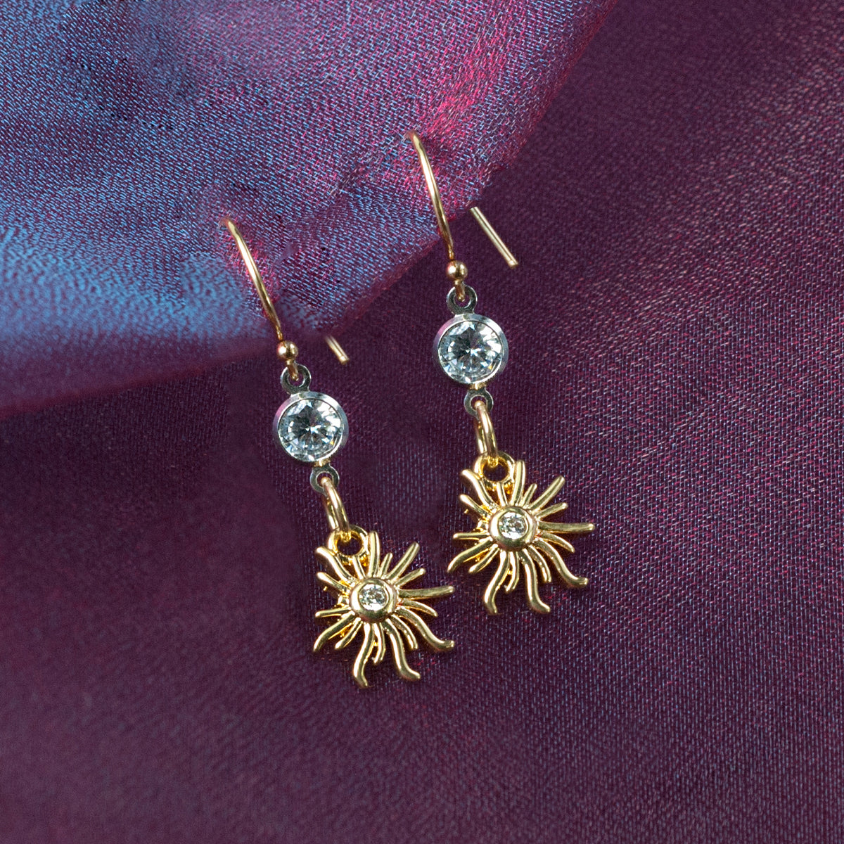 Tiny Sunshine Earrings E1507 - Sweet Romance Wholesale