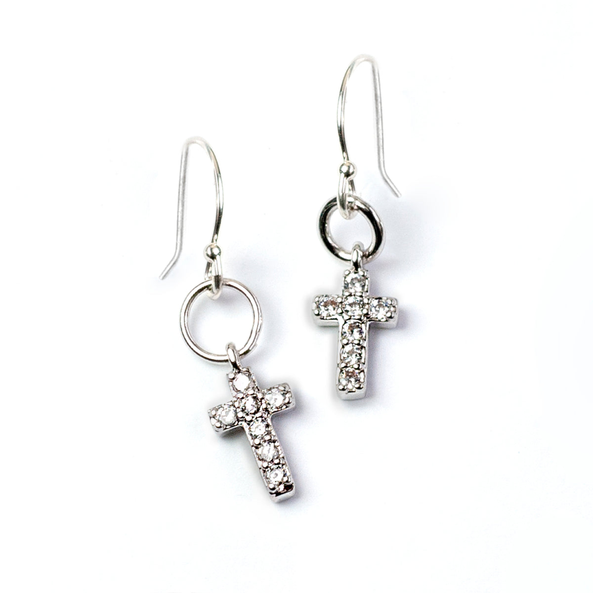 Tiny Cross Earrings E1513 - Sweet Romance Wholesale