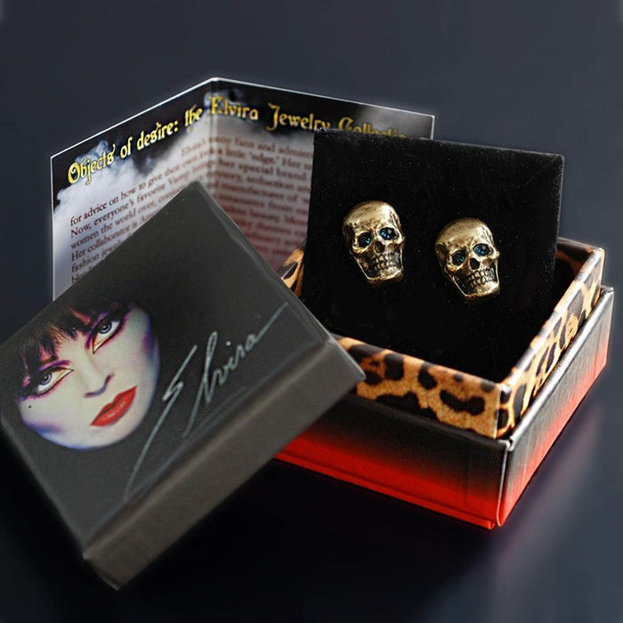 Elvira's Skull Stud Earrings EL_E113-SK - Sweet Romance Wholesale