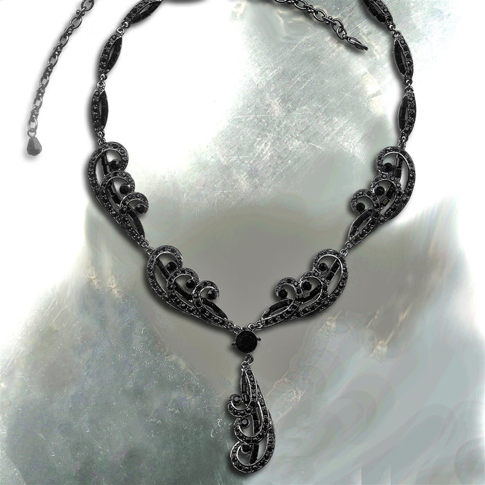 Elvira's Spellbound Crystal Necklace - Sweet Romance Wholesale