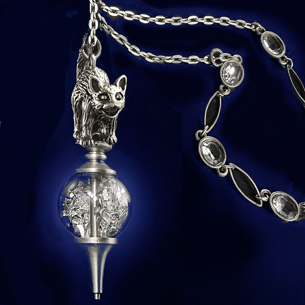 Elvira's Cat on a Crystal Ball Necklace - Sweet Romance Wholesale