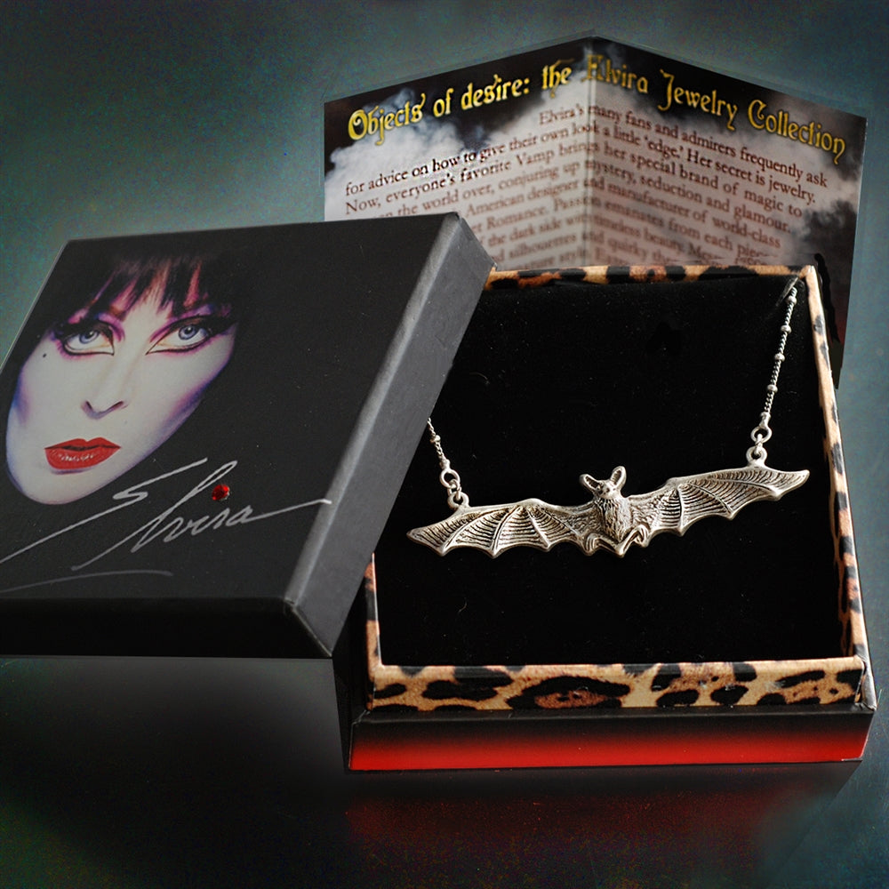 Elvira's Vampire Bat Necklace - Sweet Romance Wholesale