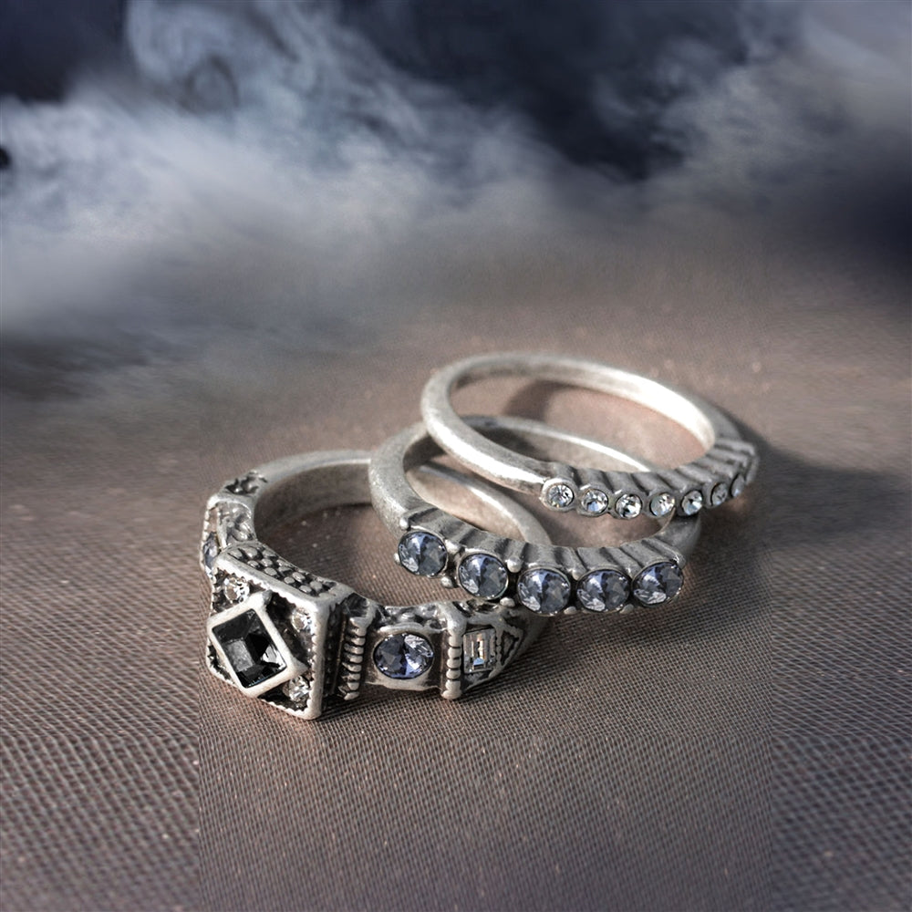 Elvira's Gothic Ring Trio EL_R102 - Sweet Romance Wholesale