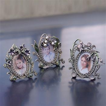 Set of 3 Miniature Picture Photo Frames