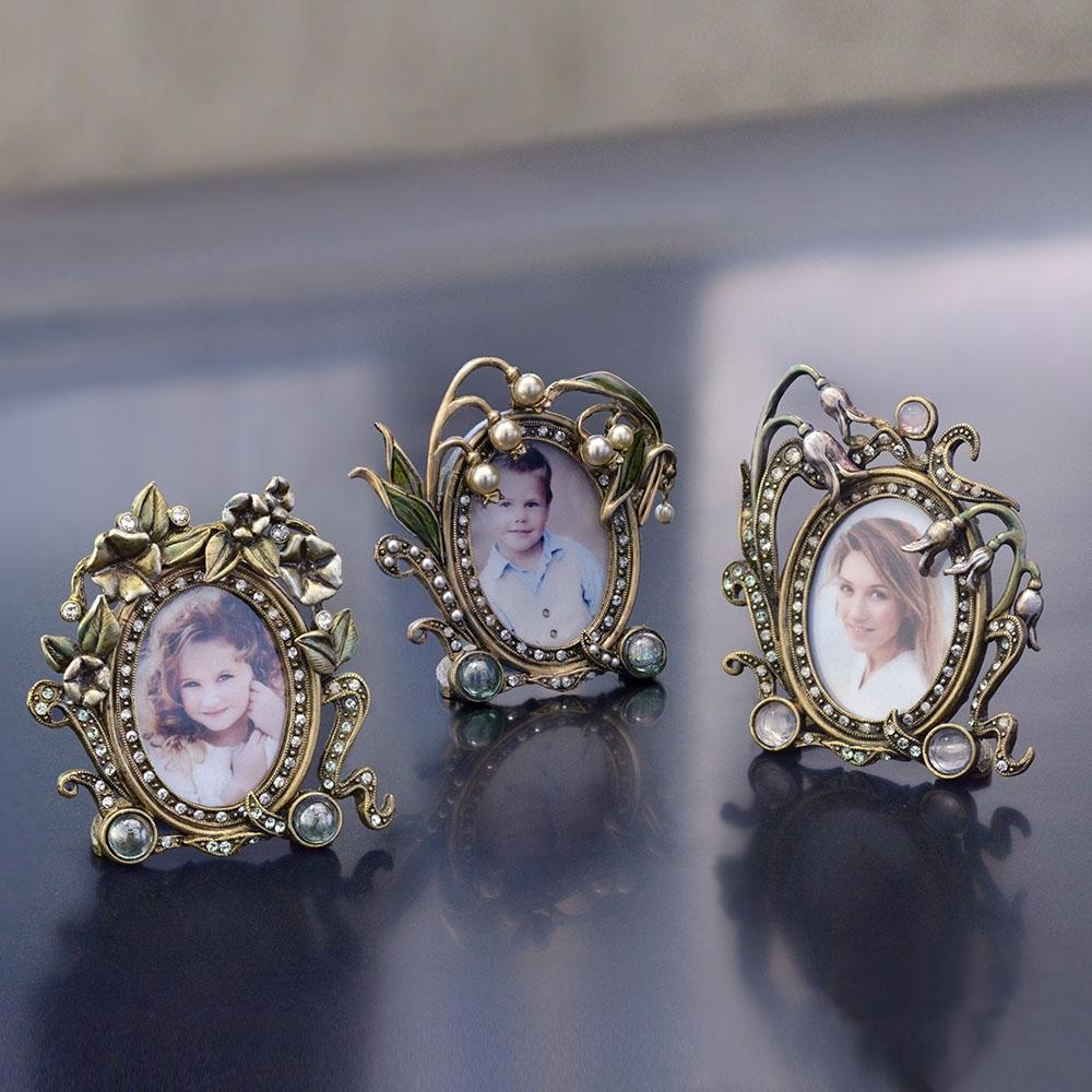 Set of 3 Miniature Picture Photo Frames - Sweet Romance Wholesale