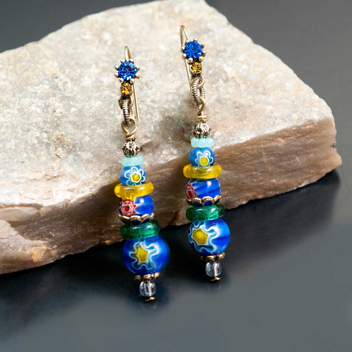 Millefiori Stack Earrings E1474 - Sweet Romance Wholesale