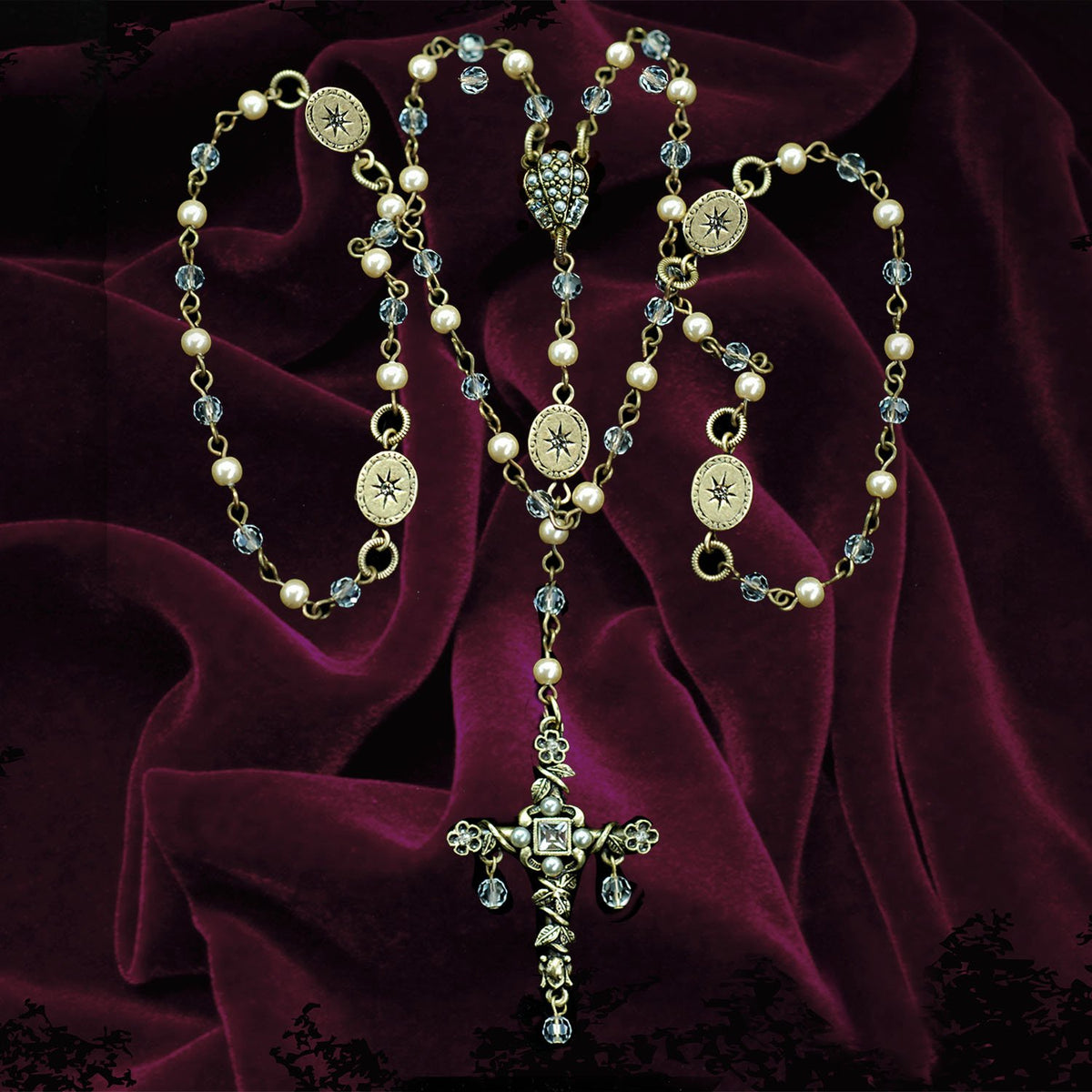 Our Lady of Miracles Rosary Necklace N1608 - Sweet Romance Wholesale