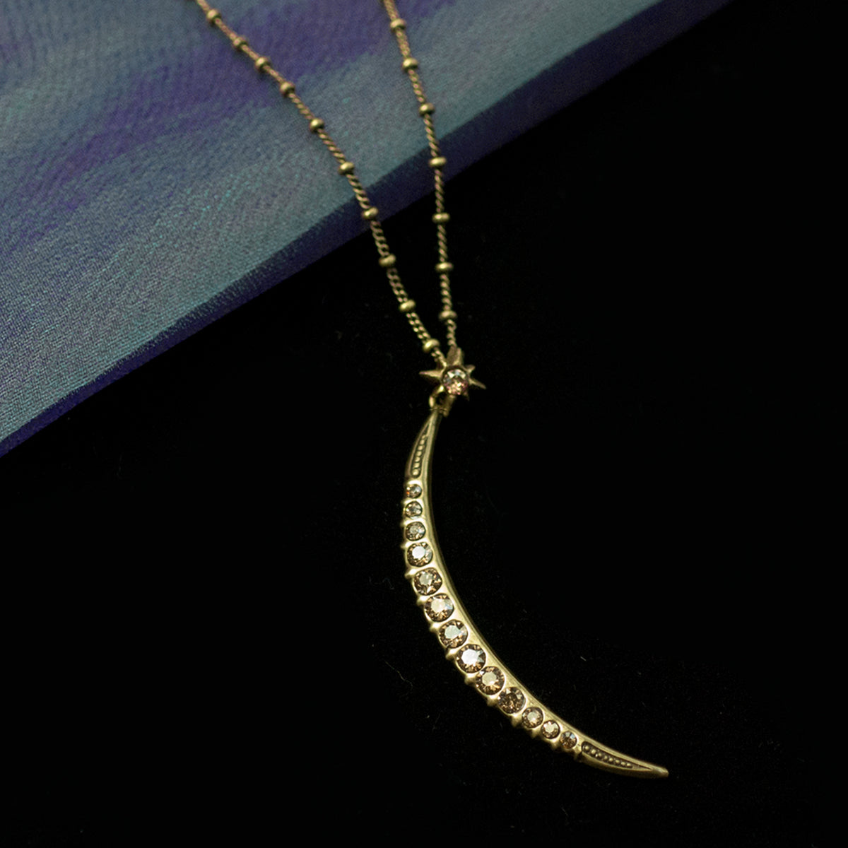 Half Moon Pendant Necklace N1627 - Sweet Romance Wholesale