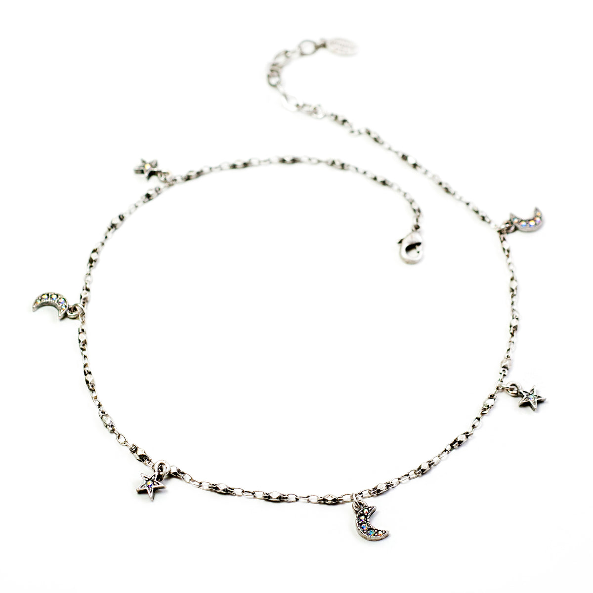 Star & Moon Charm Necklace N1629 - Sweet Romance Wholesale
